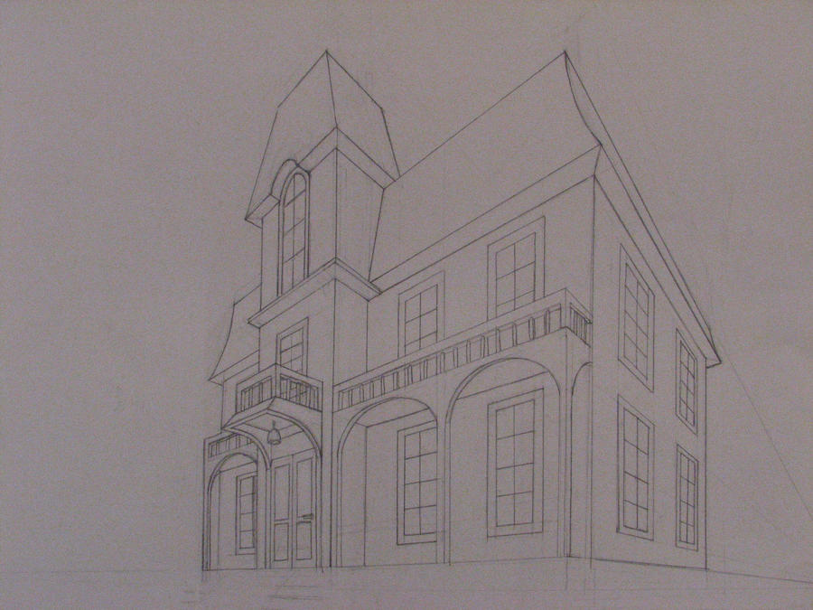 Old Victorian Houses Drawing Victorian house line drawing