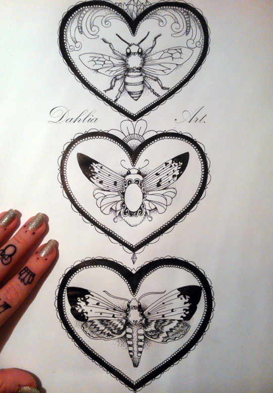 Insects in heart frame by LadySayuri on DeviantArt