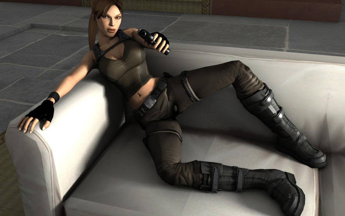 3d lara croft lingerie exposed pic