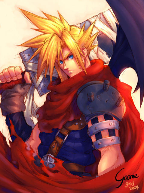 Kingdom Hearts - Cloud Strife by gooniehideout