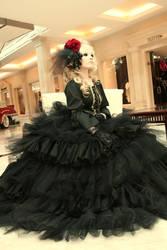 Versailles: Black flower by Astarohime