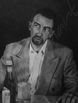 No Coffee!? - Charcoal Dry-Painting