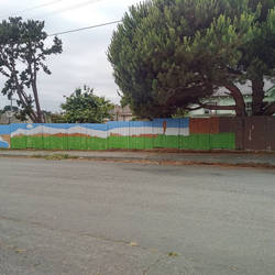 Fence Mural WIP 7-8-2018