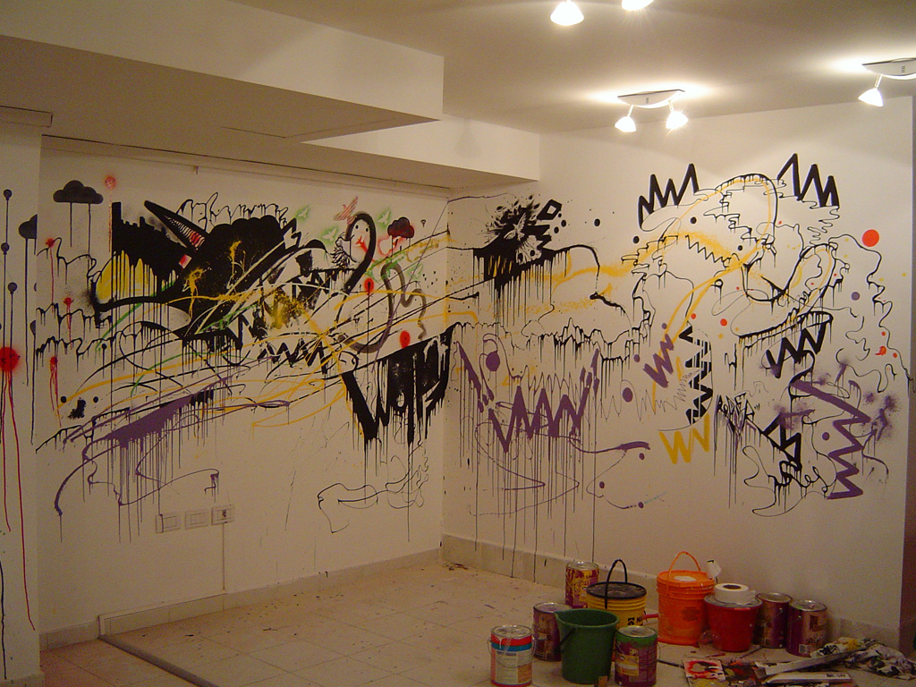 Wolf_wall_painting by Rodier