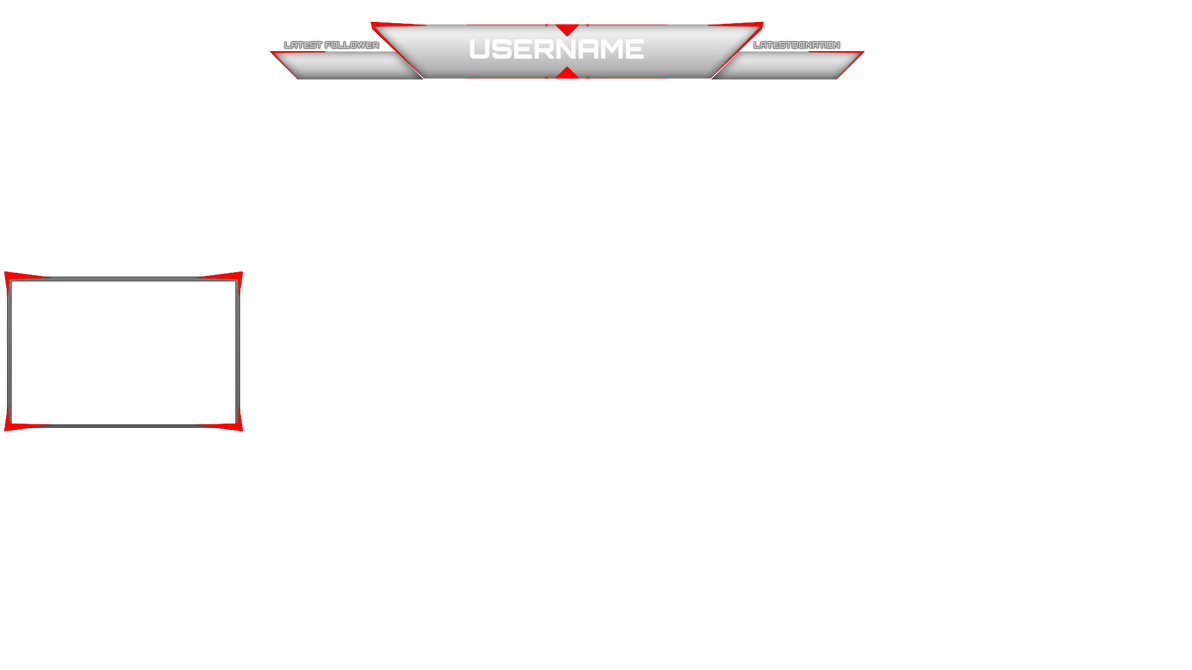 Twitch simple overlay by jaegerpangaia on deviantart for Twitch layout template