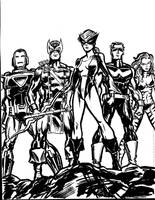 West Coast Avengers by TheCosmicBeholder