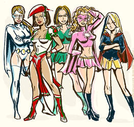 Superheroines Team-Up