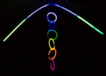 hyper-exposed glowstick art by deadlytouch