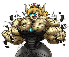 Bowsette by SinewyPendels