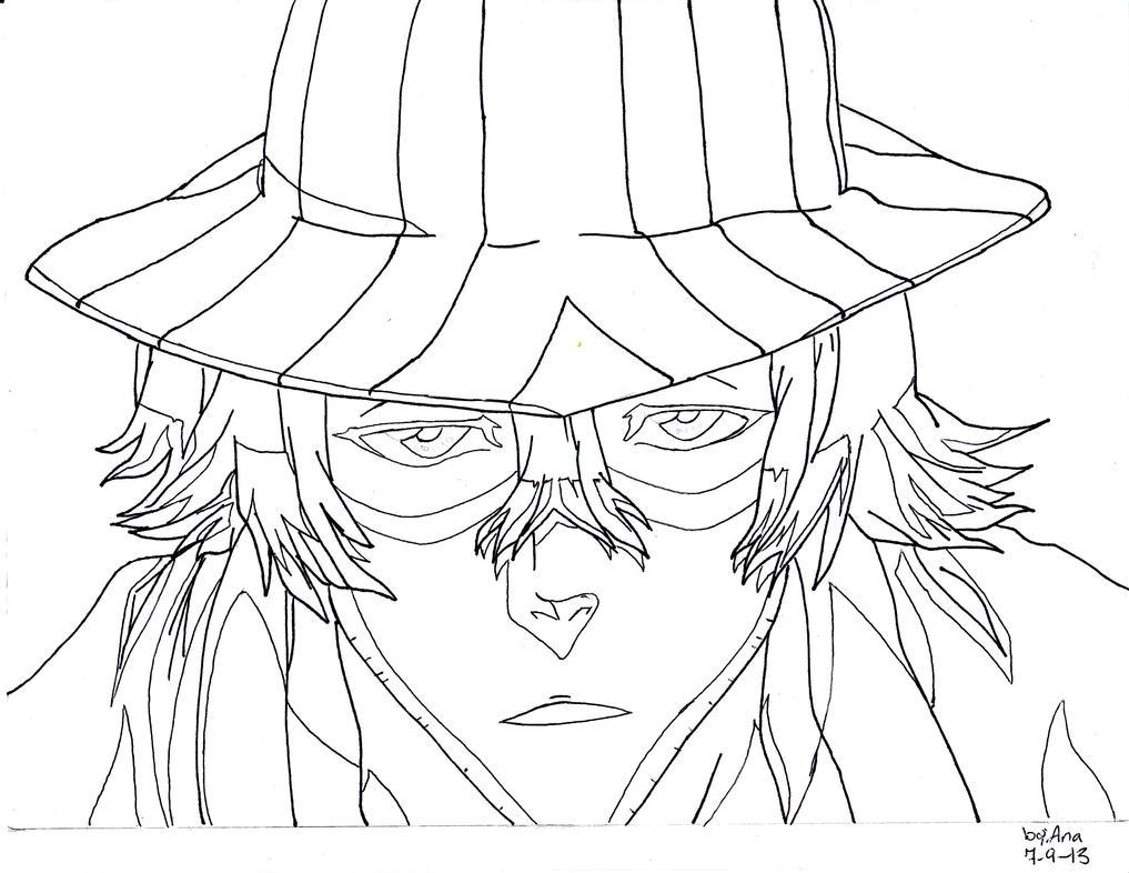 Line Art Coreldraw : Bleach lineart kiskue urahara by bokuotaku on deviantart