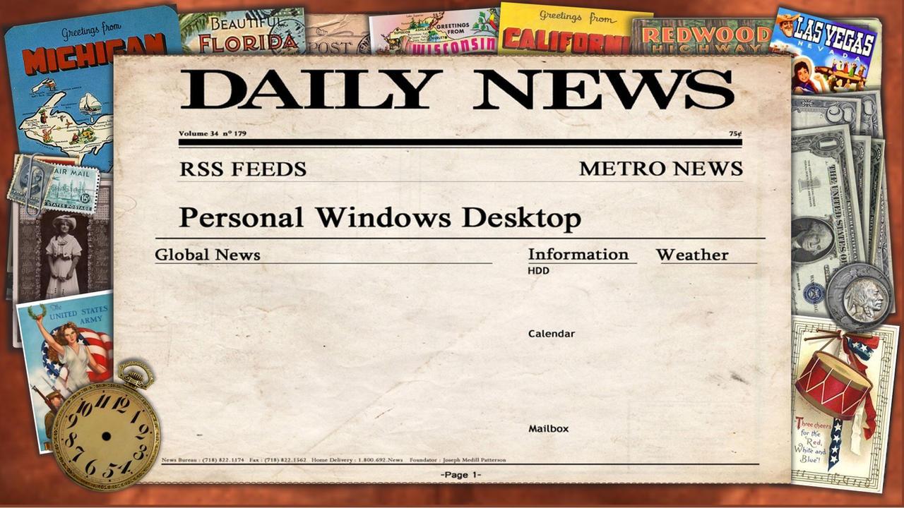 Newspaper Light Desktop Dark Americana by Asect
