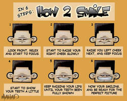 in 6 steps how to smile