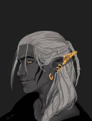 Zev Earring Oops by eikiel