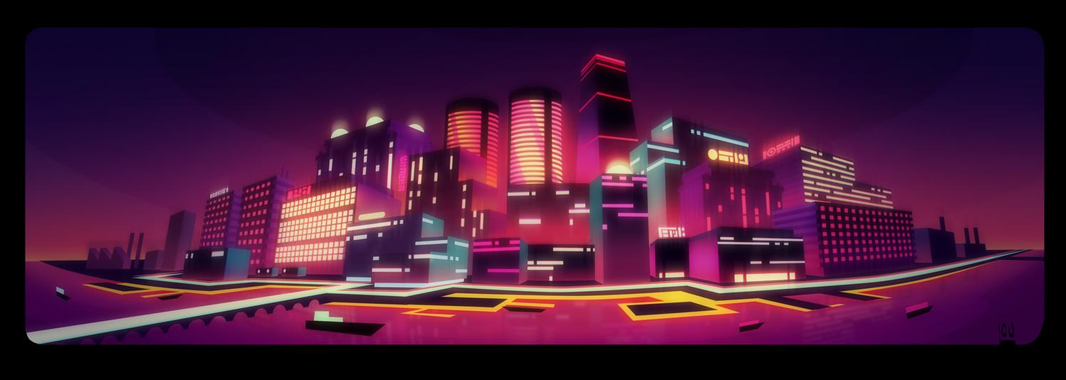 Neon Night Life by NYAAAAAAMAN