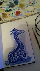 Giraffe oilpainting by BoogieSnail