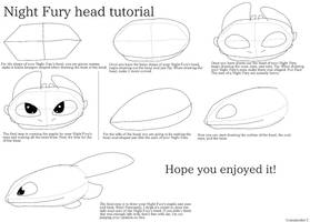 Night Fury head tutorial by Dragonteeth42