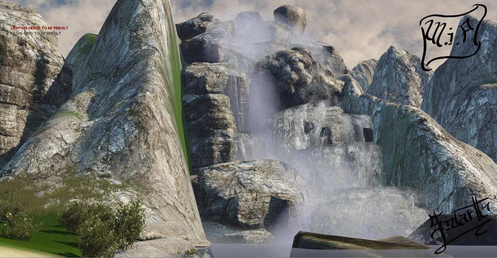 Udk 3 environment waterfall by inochisidarta on deviantart for Waterfall environment