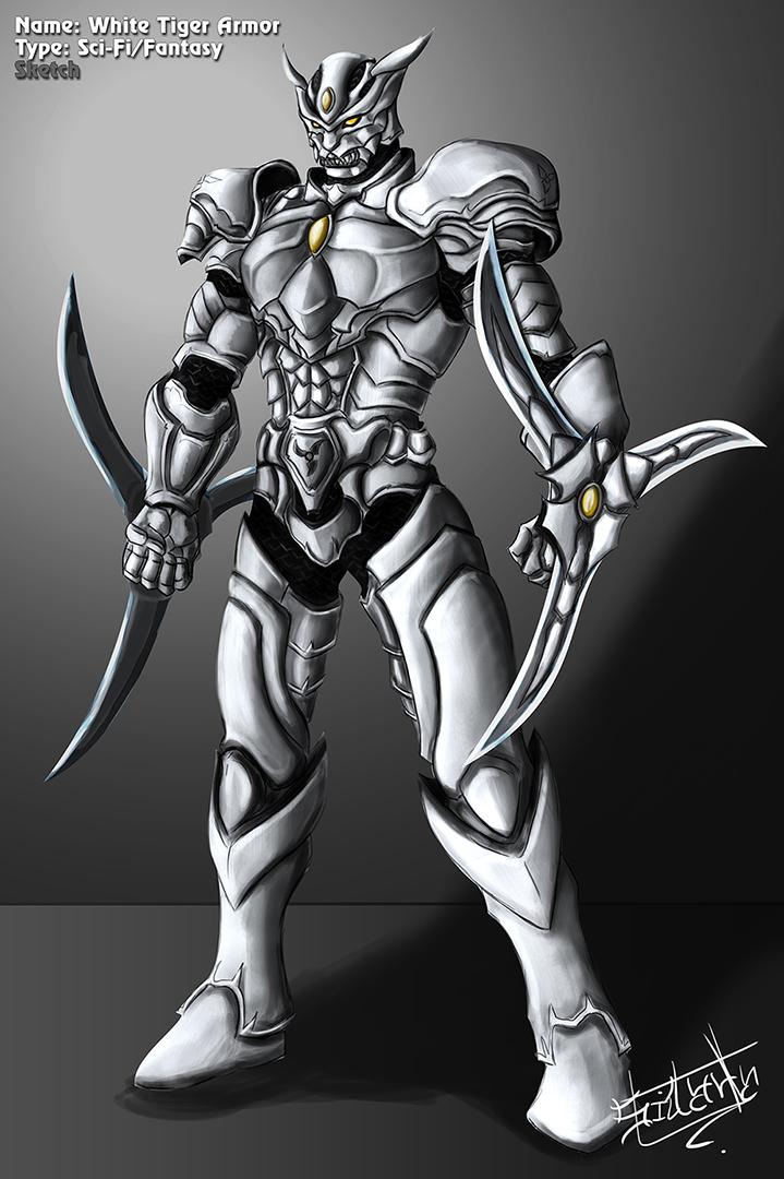 White Tiger Sci-Fi Fantasy Armor by inochisidarta on ...