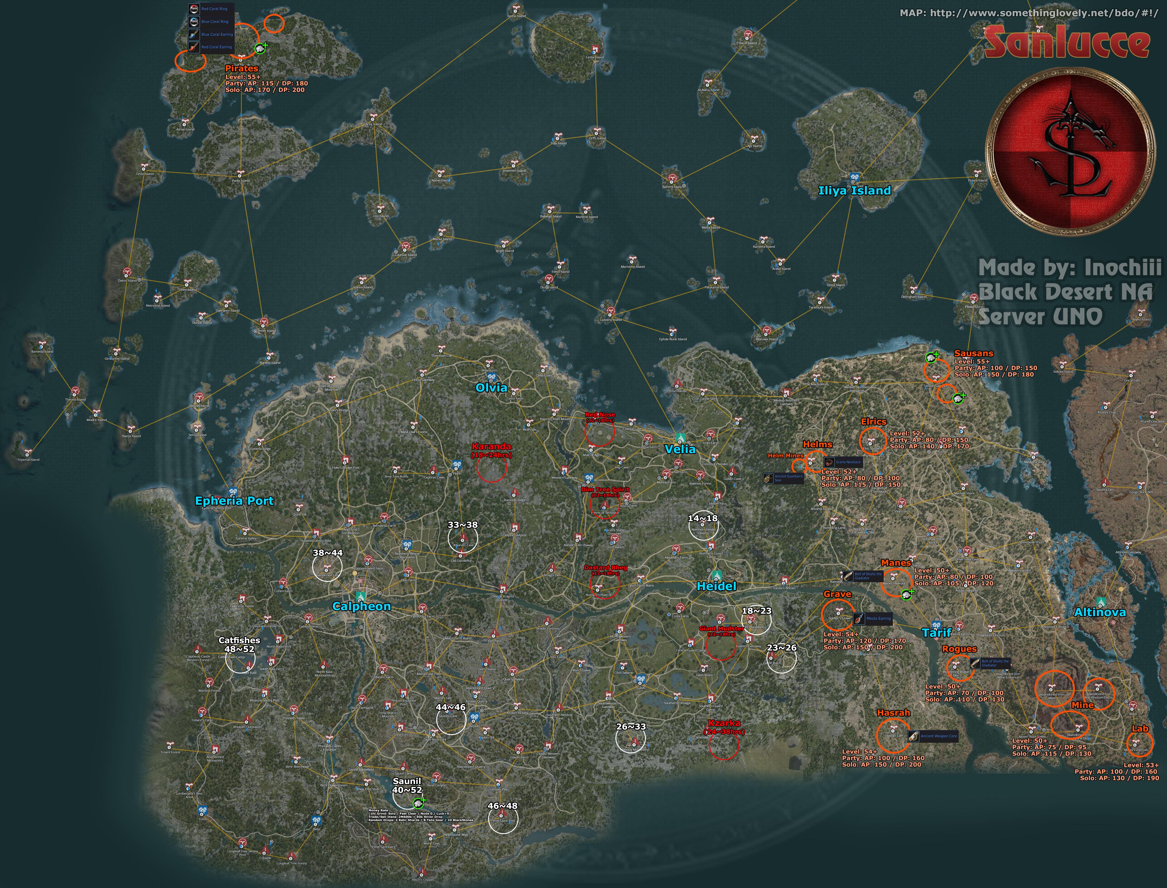 bdo karte 23/09) Grind and Leveling MAP GUIDE   Guides   The Black Desert Online