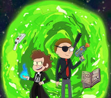Bipper and Evil Morty by FionnaLover16