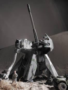 heavy artillery walker radio controled model + vid