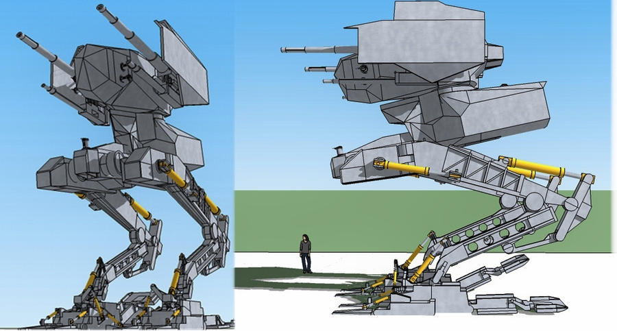 medium  walker unarmored WIP by scifieart10000