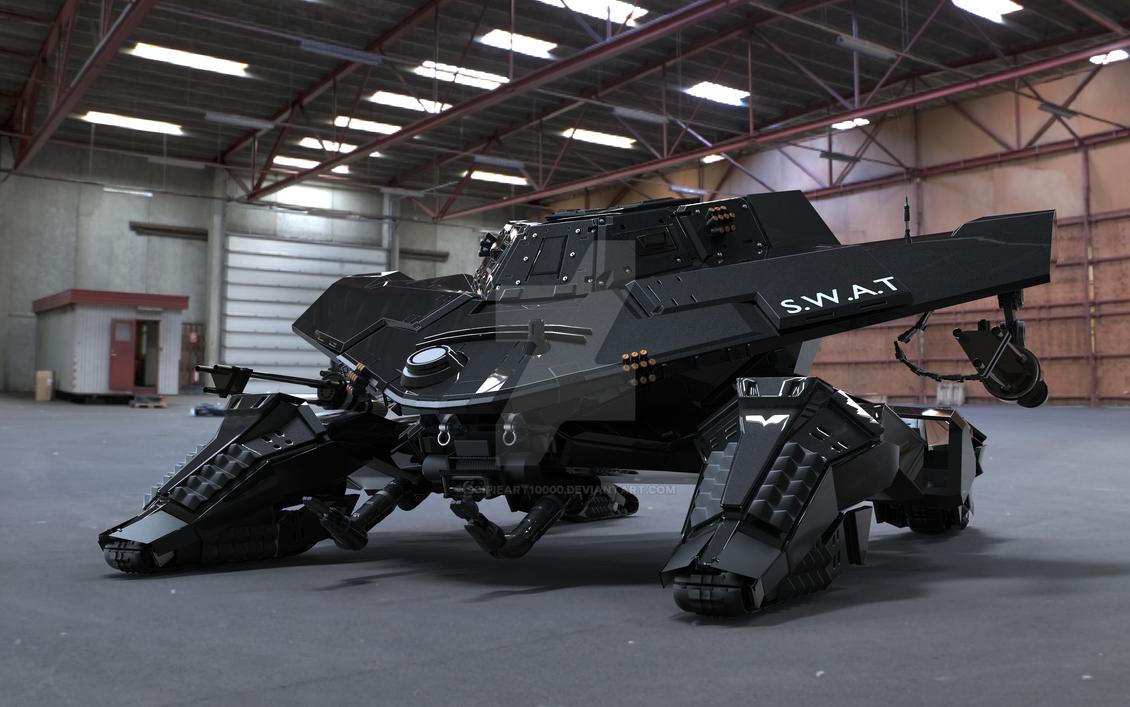 Quad track terain adaptive waker by scifieart10000