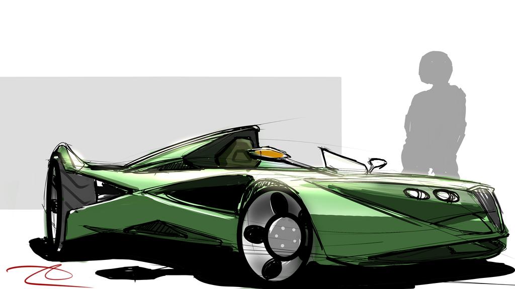 classy roadster by scifieart10000