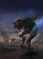 Ostrich walker by scifieart10000