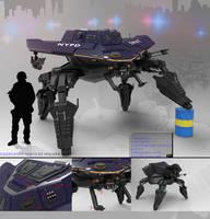 Emergency services walker by scifieart10000