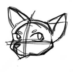 Cat head sketch by Peiixxes
