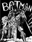 Batman (dessin traditionel noir et blanc)