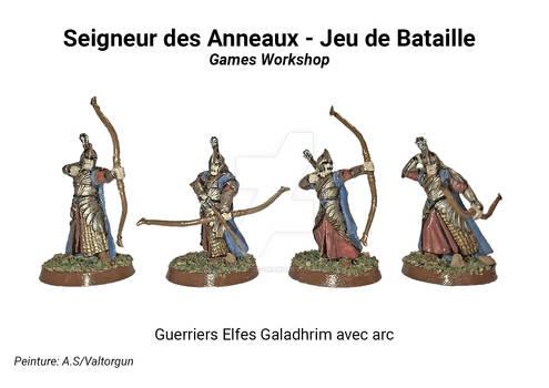 Guerriers Elfes Galadhrim avec arc