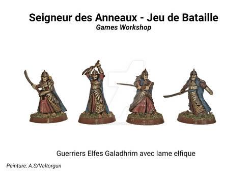 Guerriers Elfes Galadhrim avec lame elfique