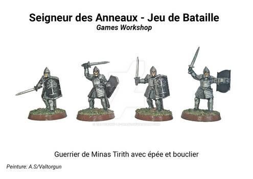 Guerrier de Minas Tirith avec epee et bouclier