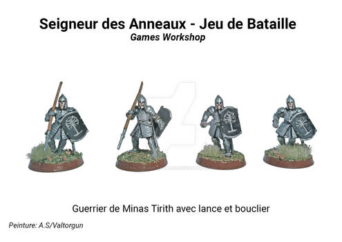 Warrior Minas Tirith with spear and shield