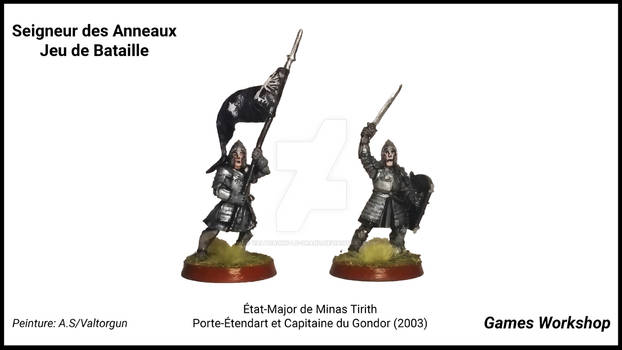 Gondor Commanders (2003)-Banner and Captain