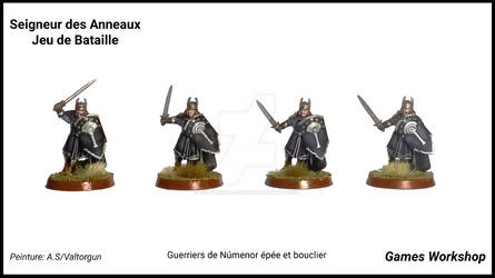 Warriors of Numenor sword and shield