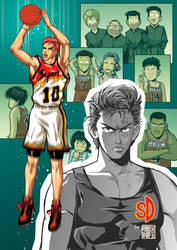 Future and past of Hanamichi Sakuragi by ilpuci