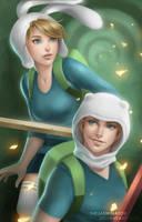 Finn and Fionna by TheJasminator