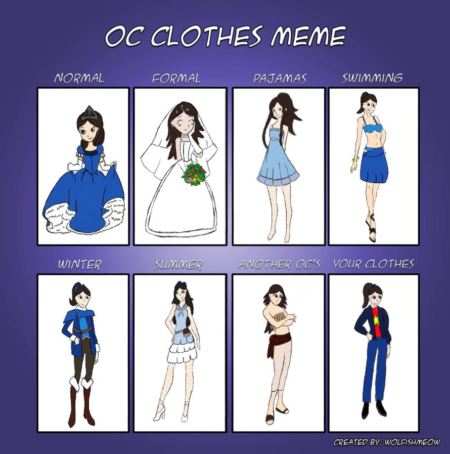 OC clothes meme: Saphir by impact358