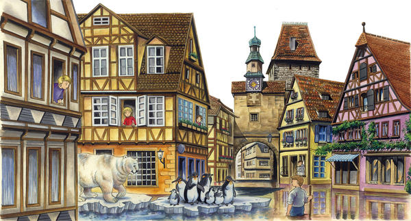 A Flooded Town by MariSinclair on deviantART