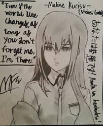 Makise Kurisu Drawing