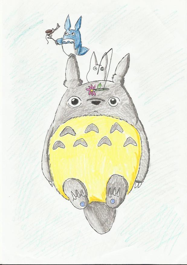 Totoro fanart by Rainbow-Lasagna