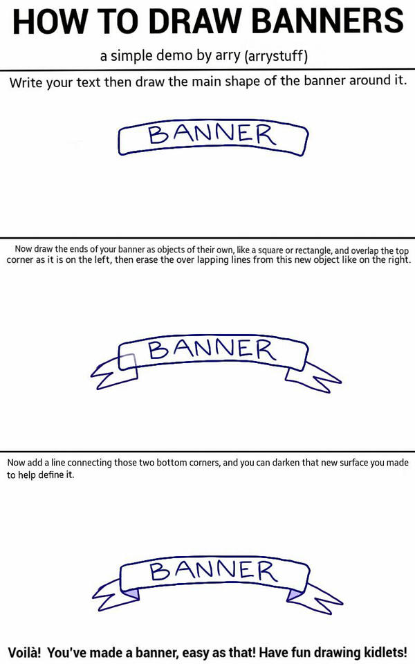 how to draw a straight banner