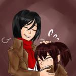 Request: Mikasa and Sasha