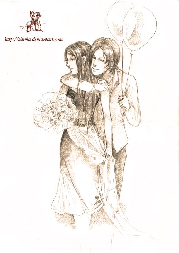 commission:Brishen and Miranda by sinvia