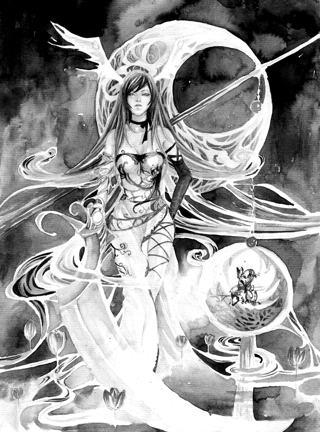 Resurrection Goddess-BnW by sinvia