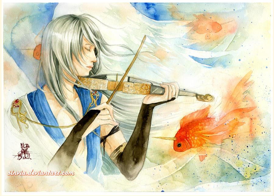 Commission: Violin by sinvia