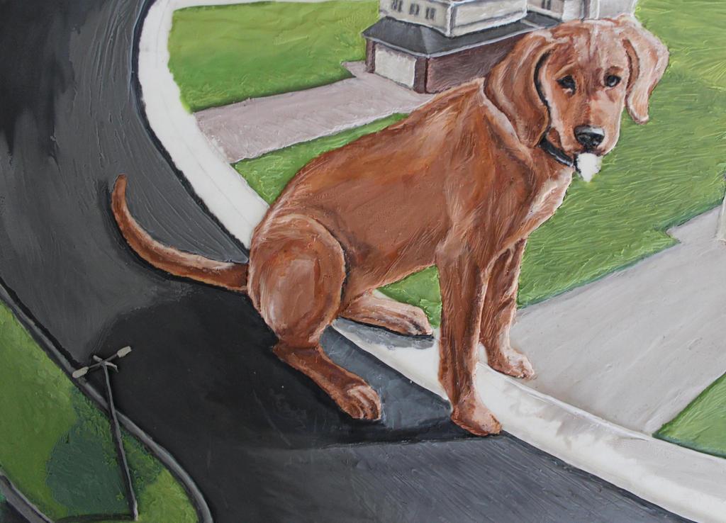 Clifford the Big Red Dog Plasticine by Mimitchki